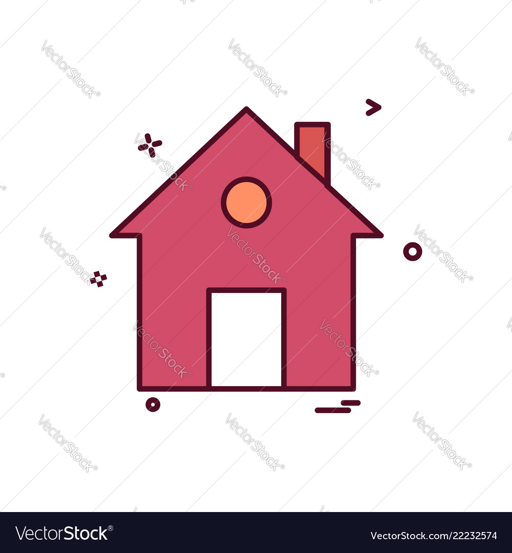 Home house flat icon design