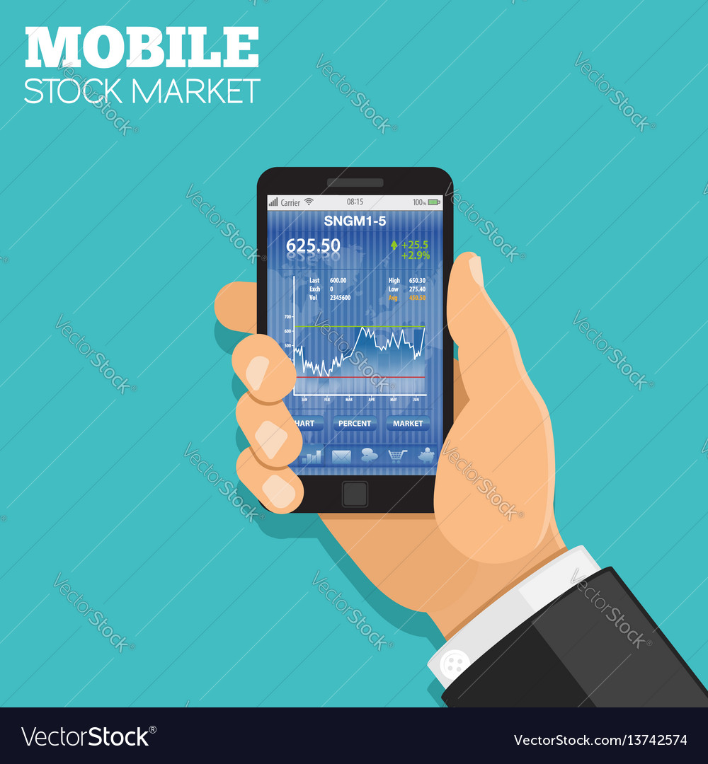 Mobile stock market
