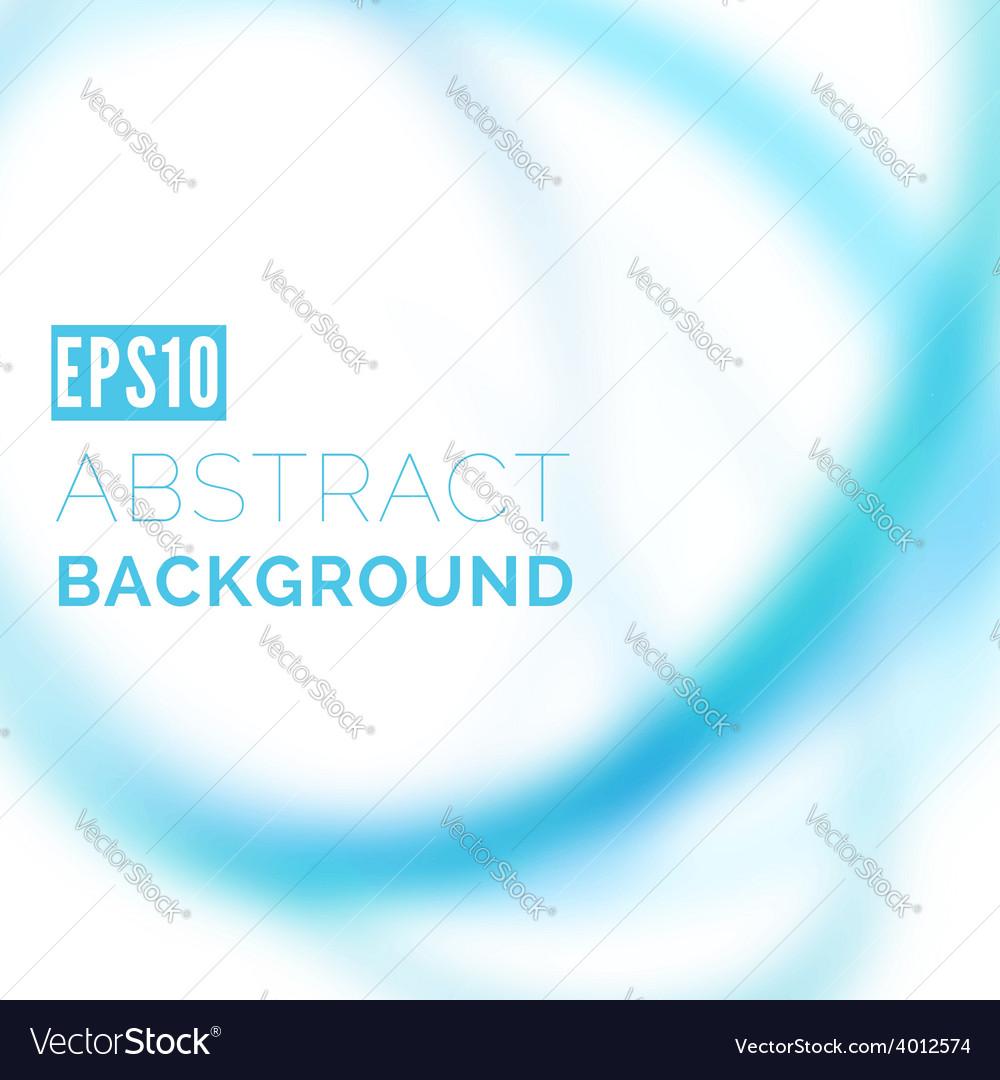 Modern blue blurred swoosh line background vector image