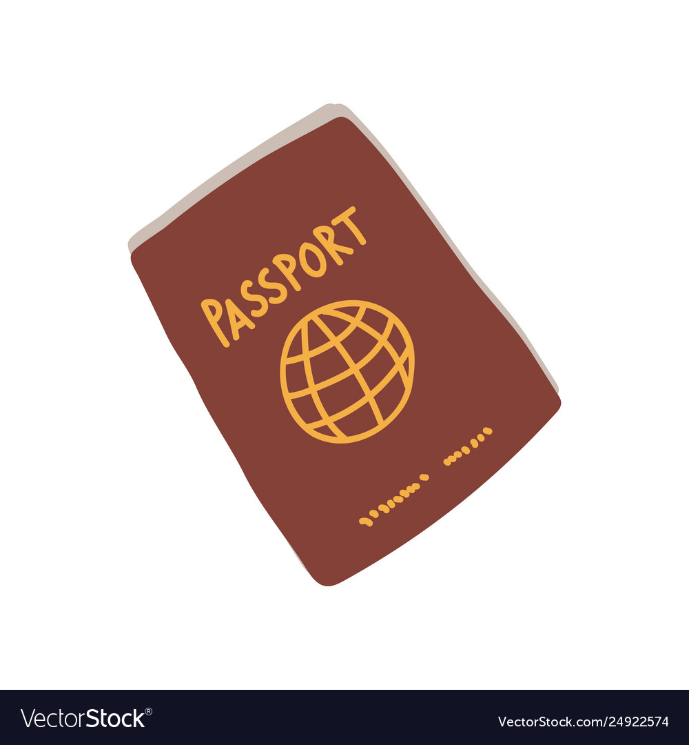 Passport red international document travel