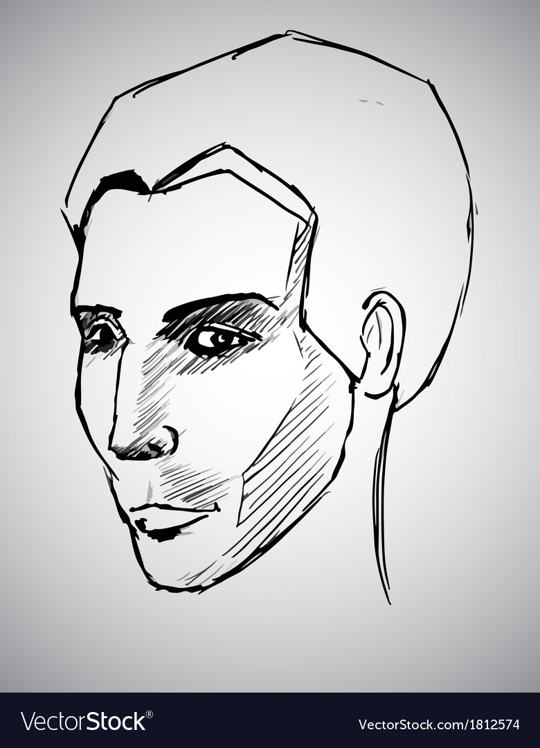 Sketch portrait of a man