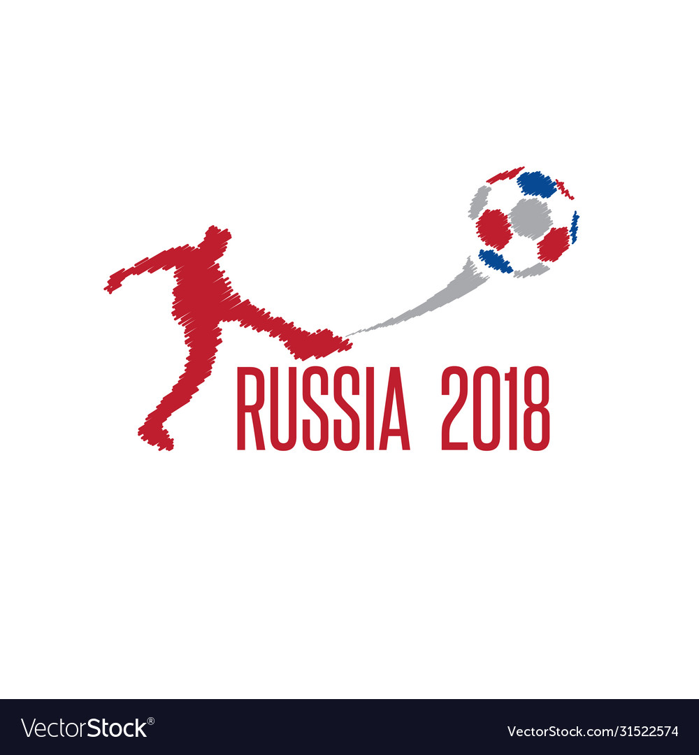 World cup in russia 2018 with player
