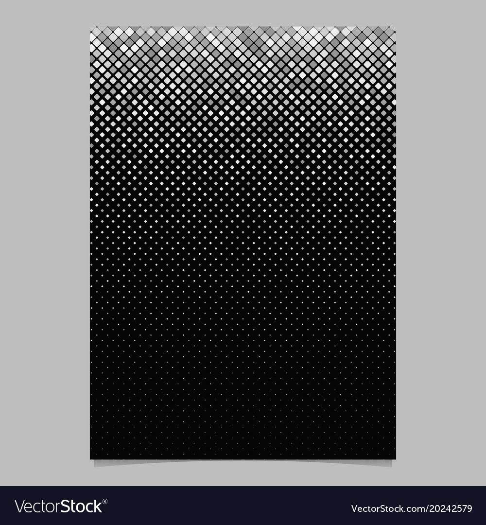 Abstract square pattern brochure design - mosaic