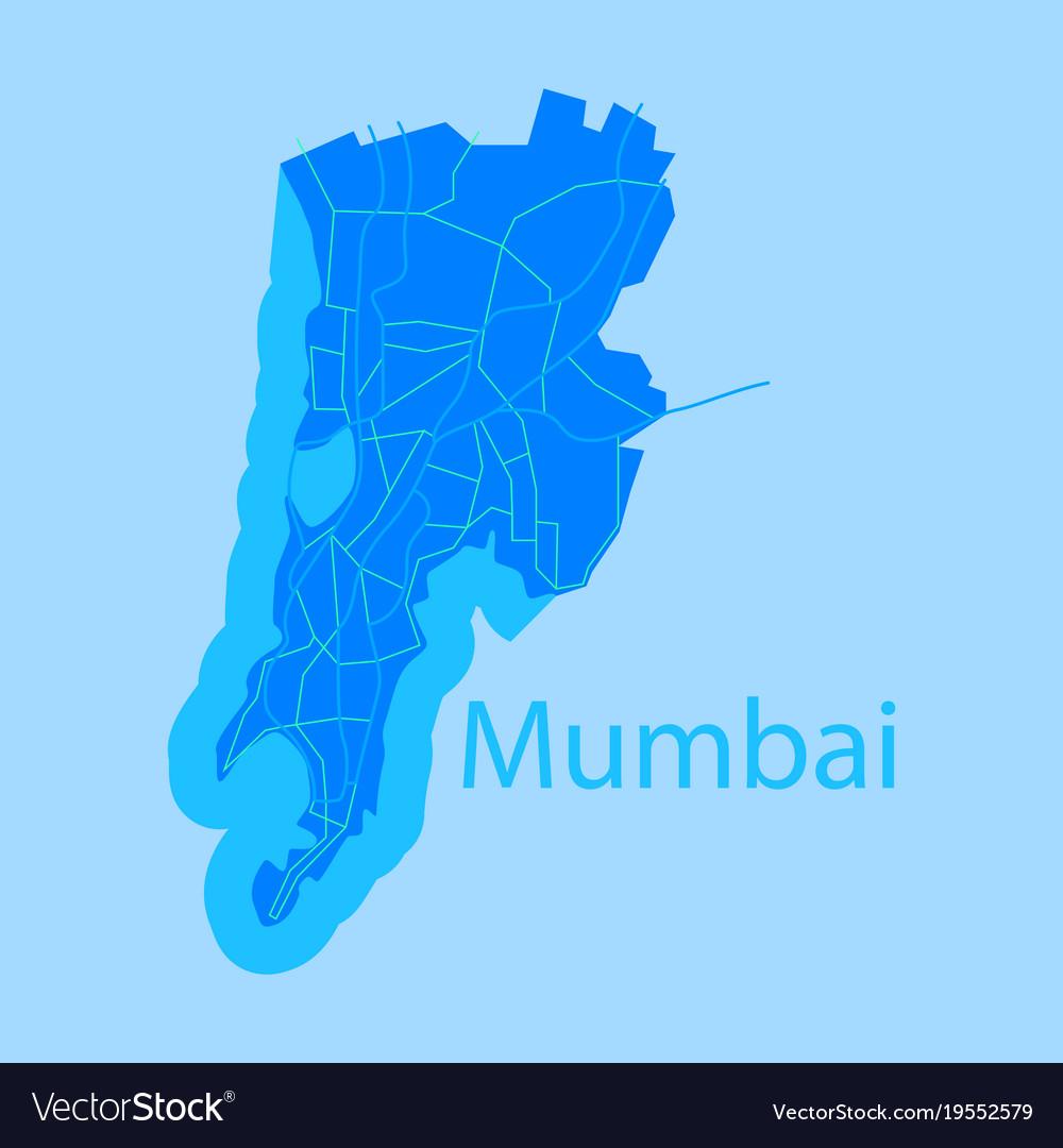 High Resolution Simple Mumbai Map