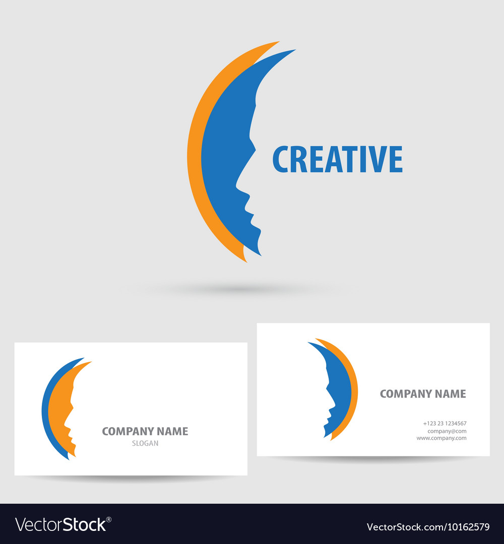 Icon with business card template