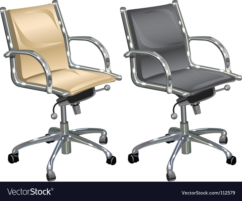 Leather armchairs vector image