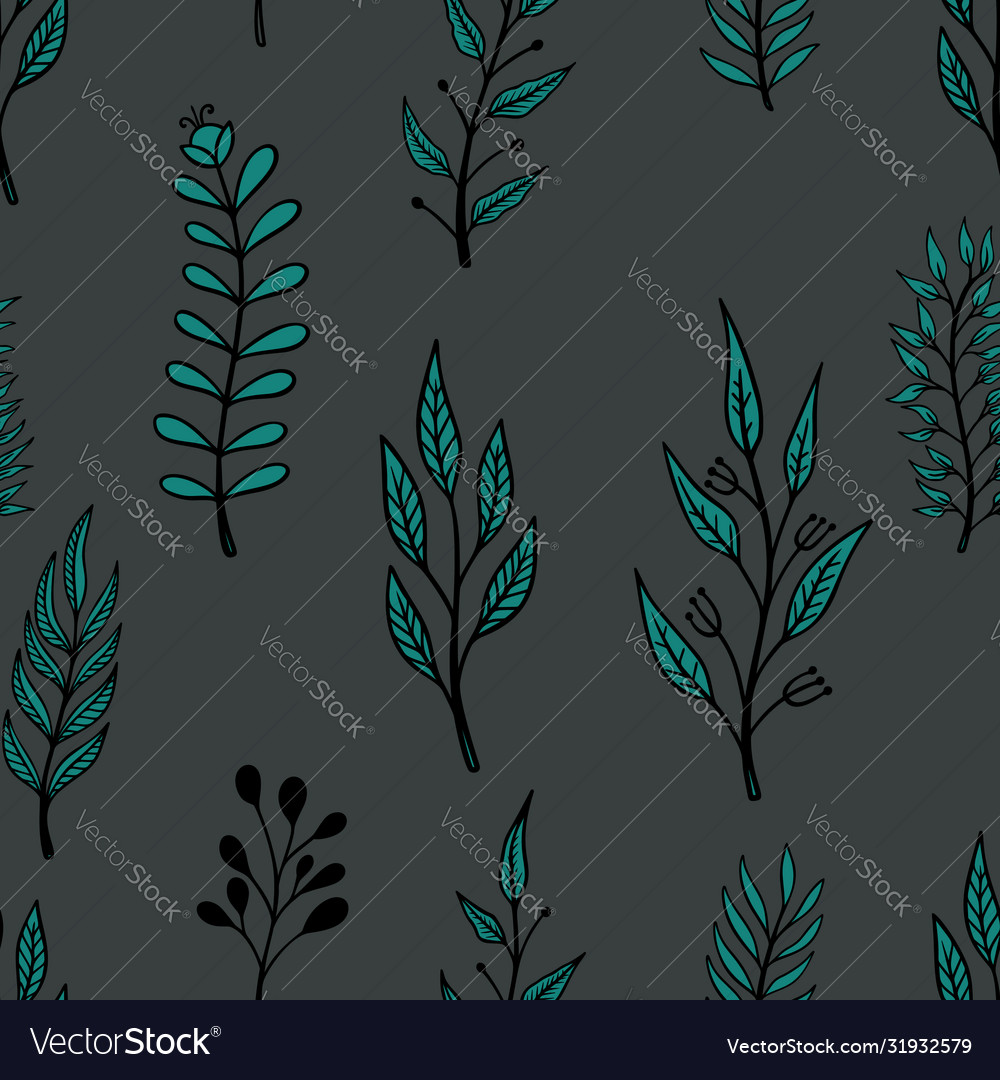Seamless pattern with doodle style floral
