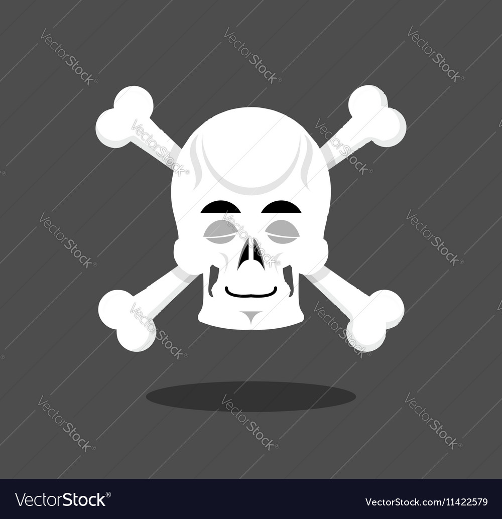 Sleeping skull emotion Crossbones Closed eye