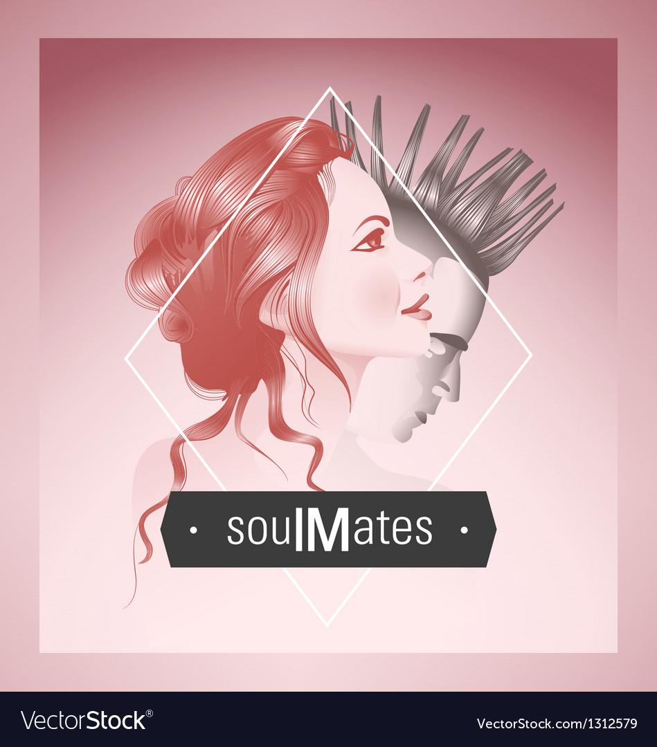 Soul mates vector image