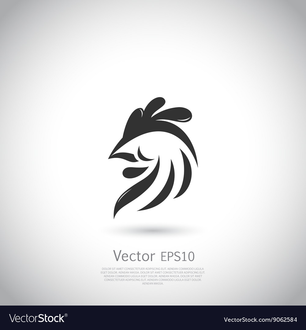 Abstract rooster logo template