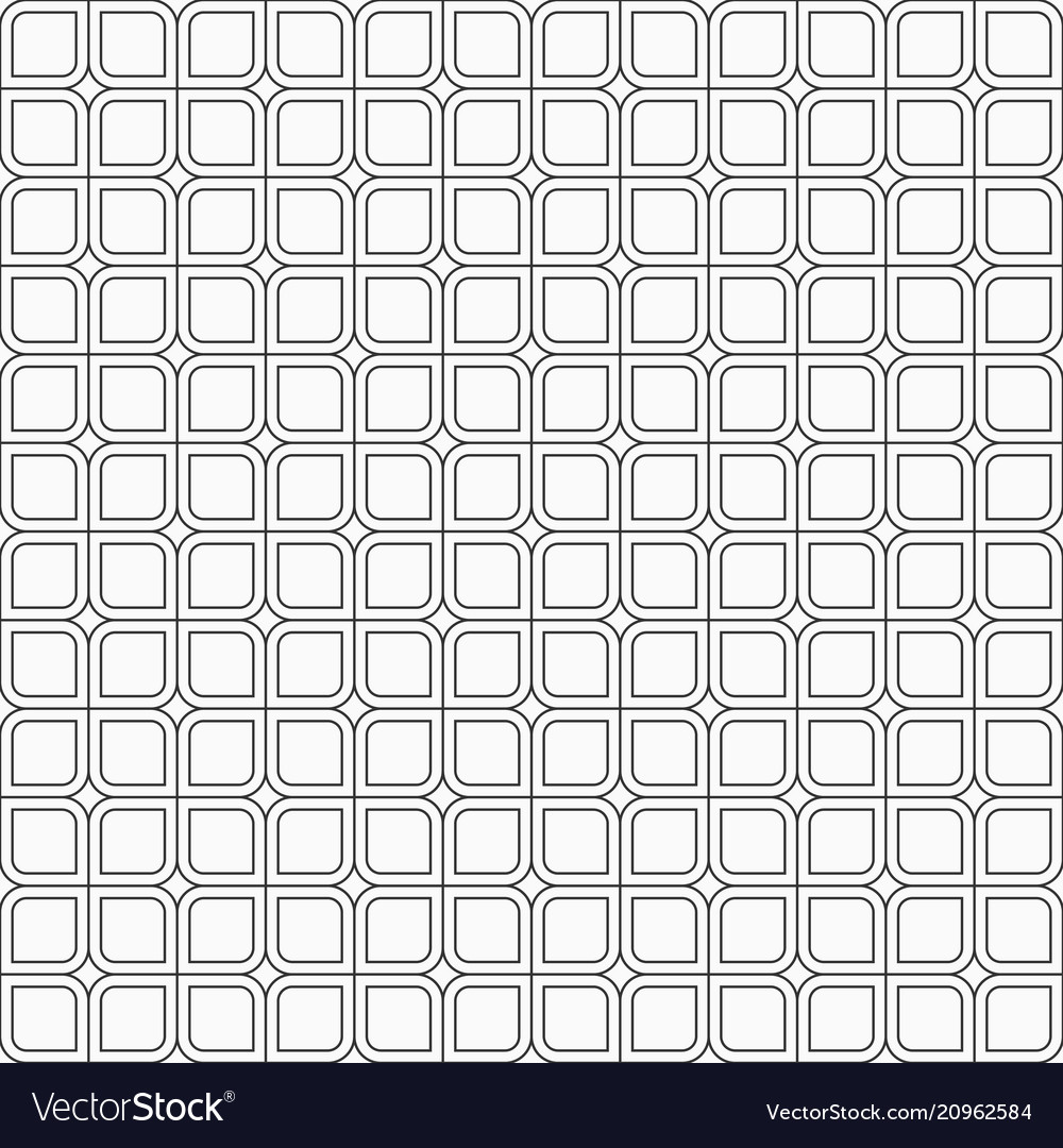 Abstract seamless pattern of squares with rounded