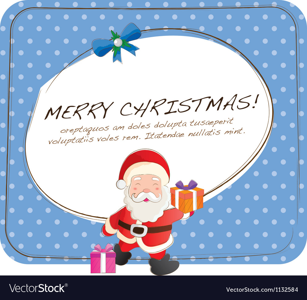 Cute Christmas Cards Royalty Free Vector Image