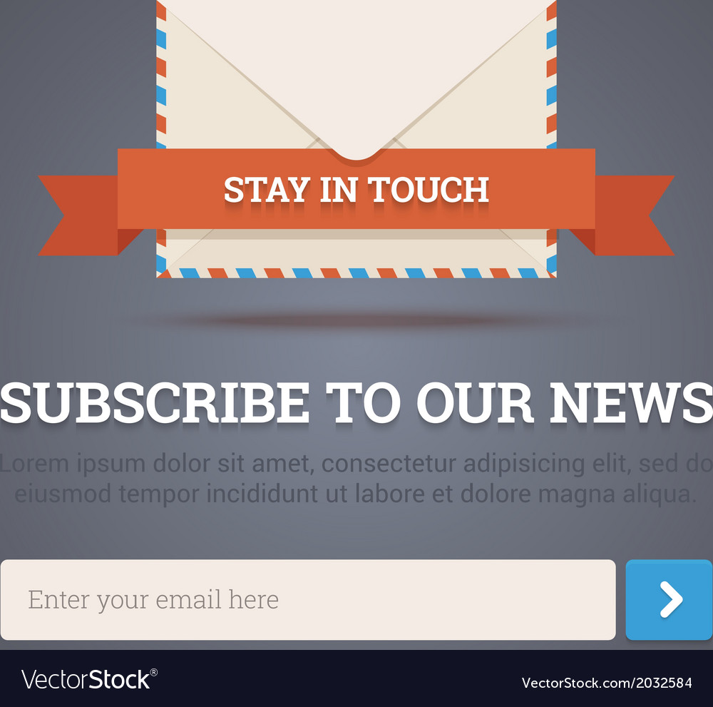 Newsletter Template Subscription Form