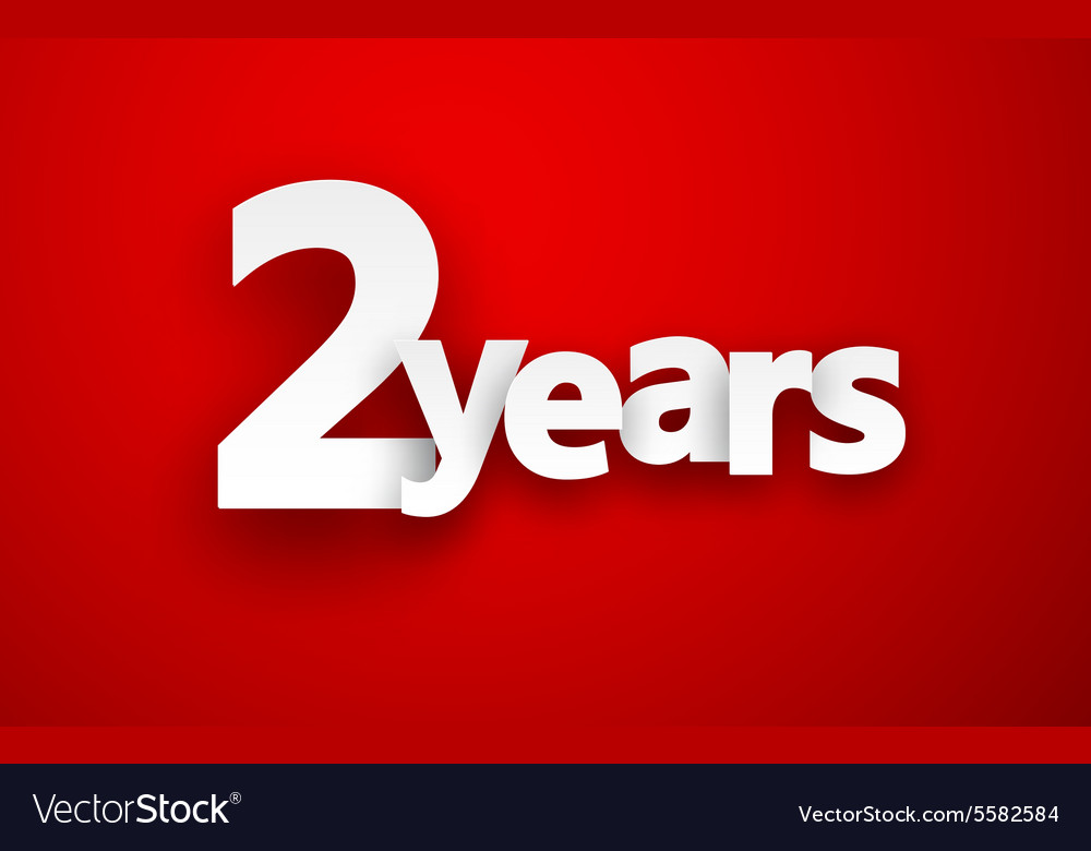 Two years paper sign