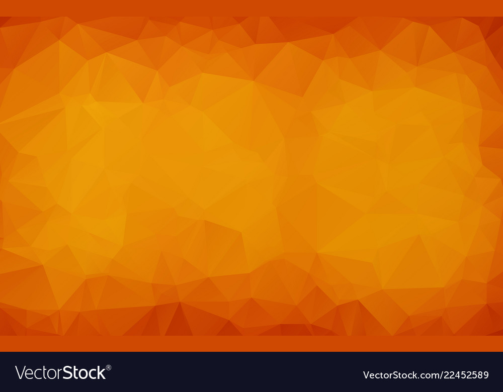 Abstract dark orange polygonal which consist of
