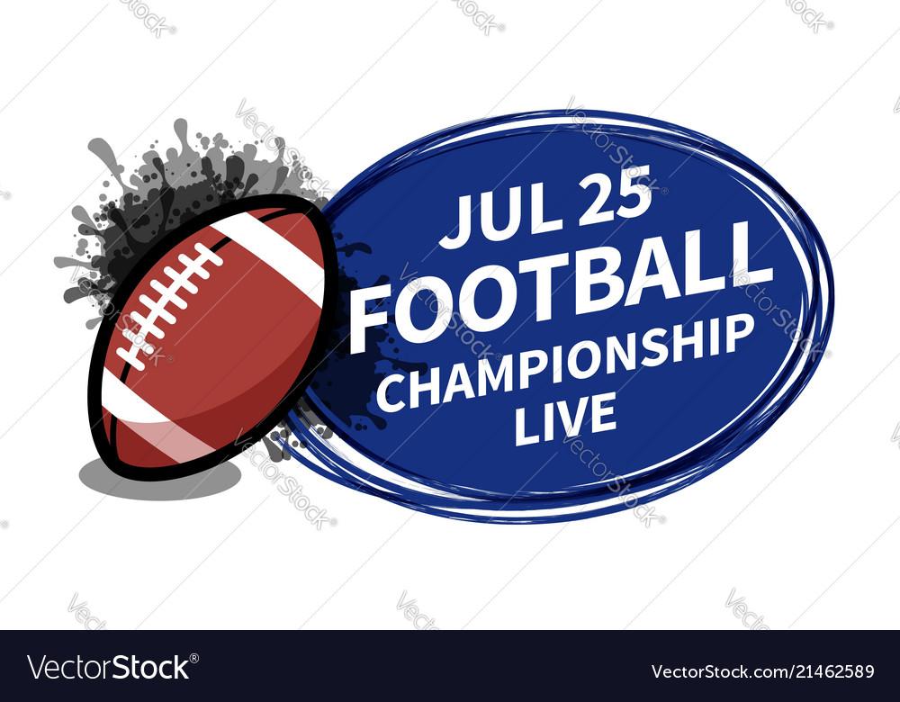 American football rugsport scoreboard