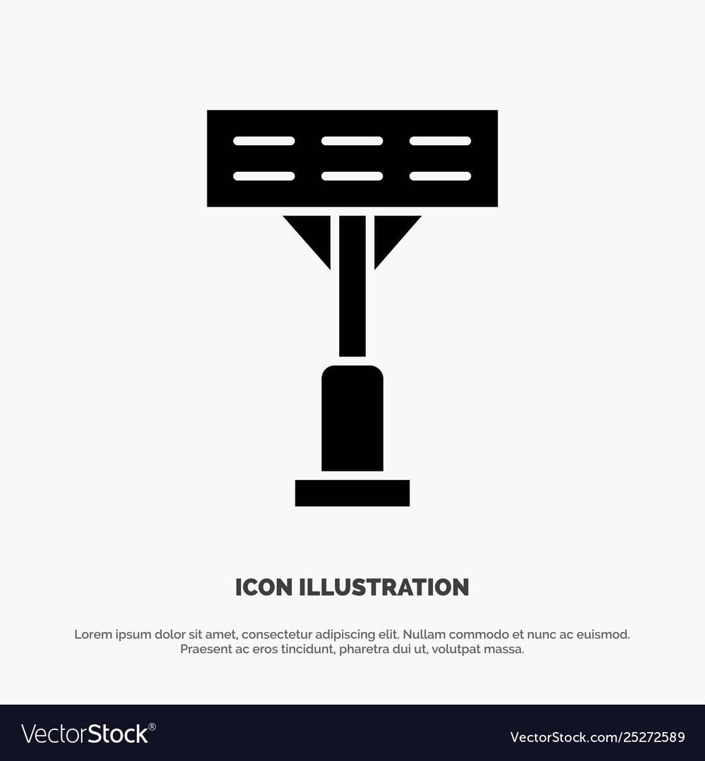 Construction light stadium solid glyph icon