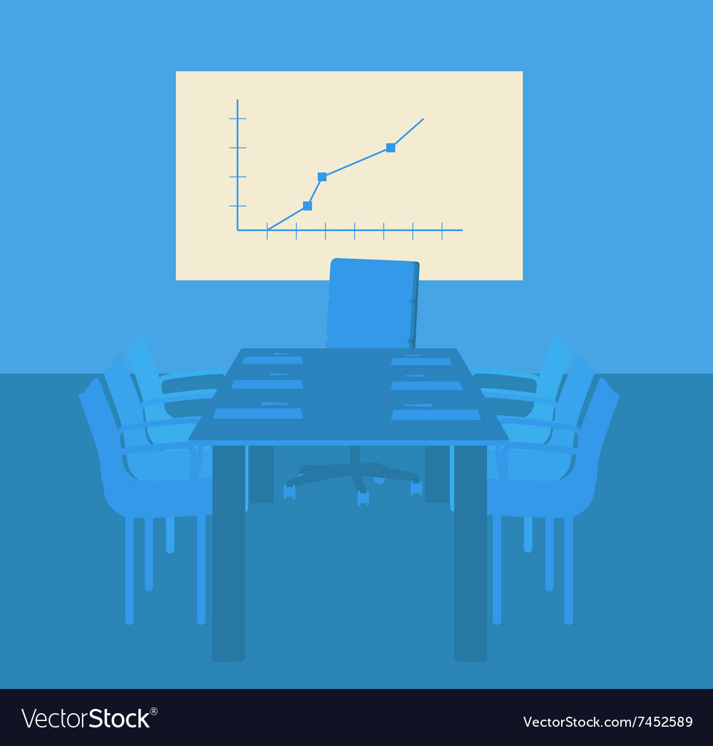 Decision-making room Working in an office vector image
