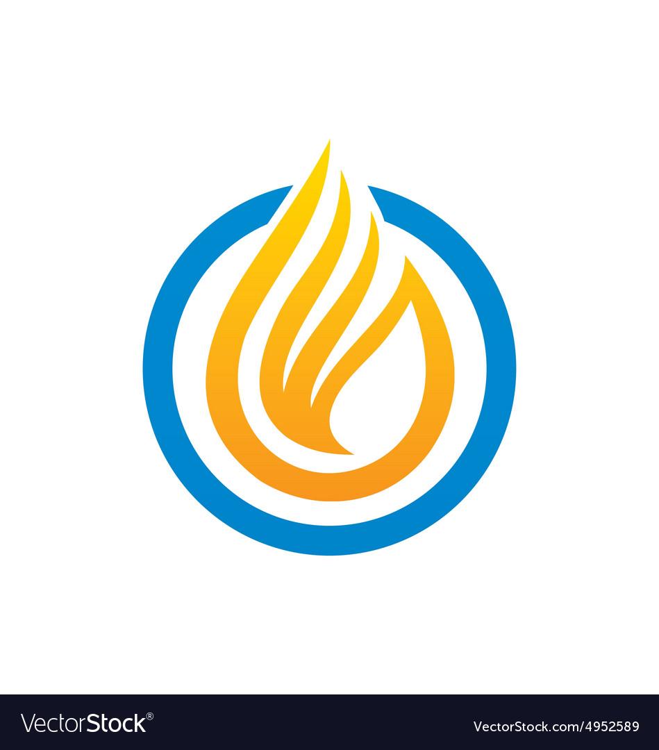 Fire liquid abstract logo vector image