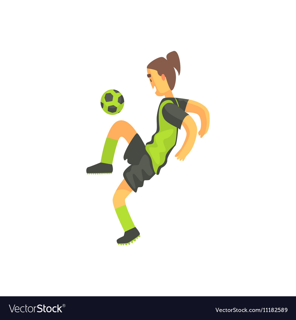 Football Player With Ponytail Isolated vector image