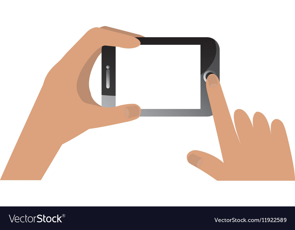 Hand human with smartphone