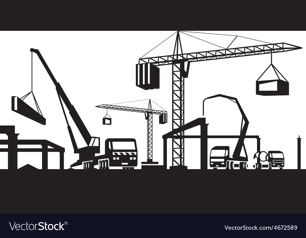 Industrial construction scene