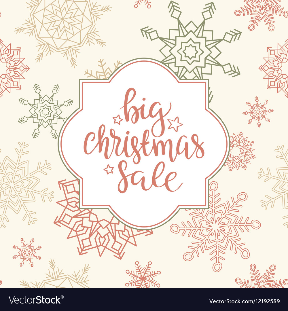 Merry Christmas sale background art