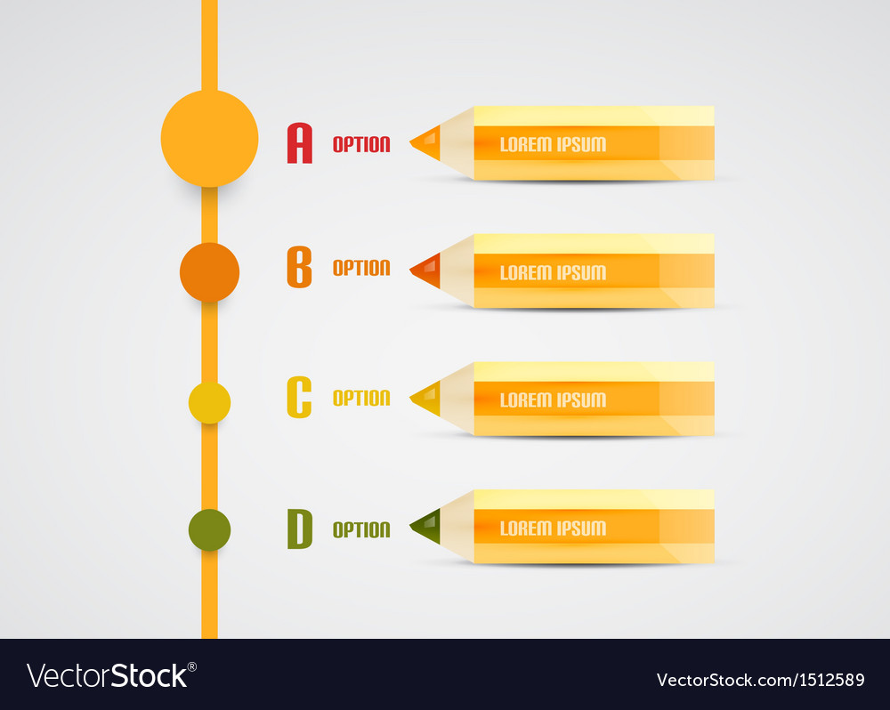Modern pencil presentation template