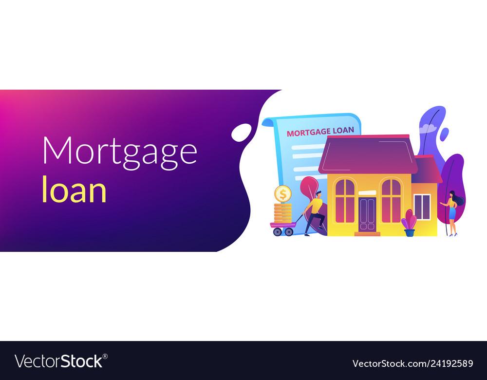 Mortgage Loan Concept Banner Header Royalty Free Vector