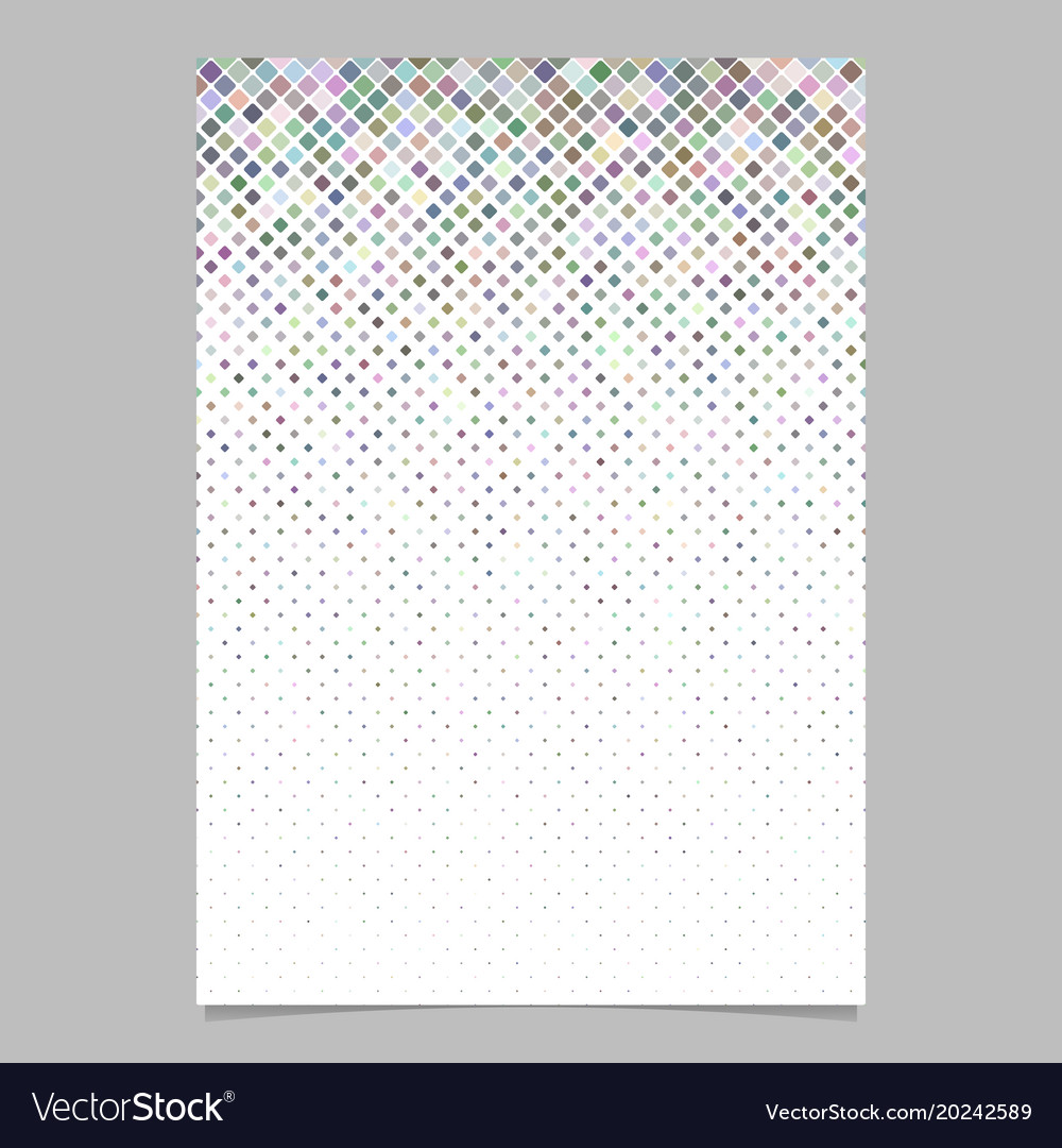 Square pattern flyer template - tile mosaic page