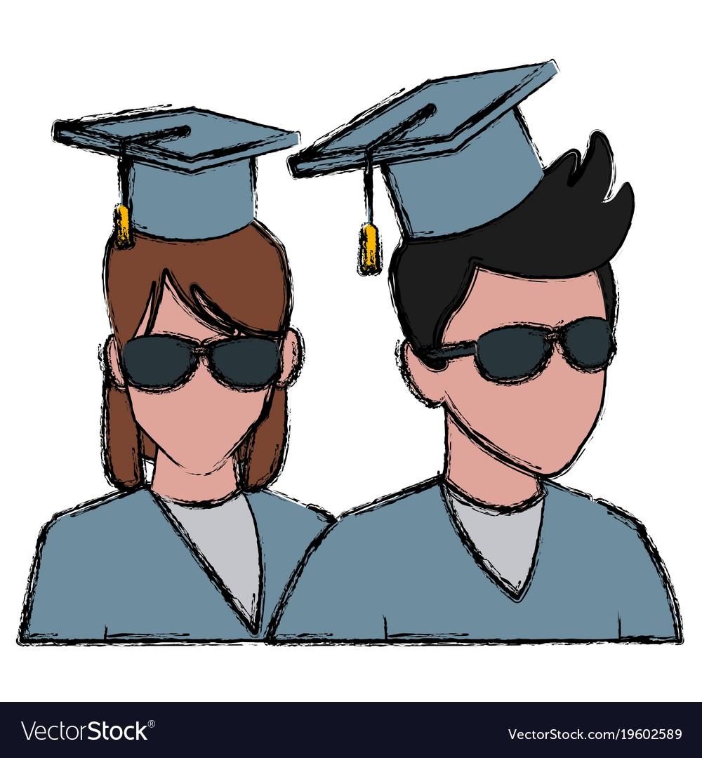 Students in graduation avatar