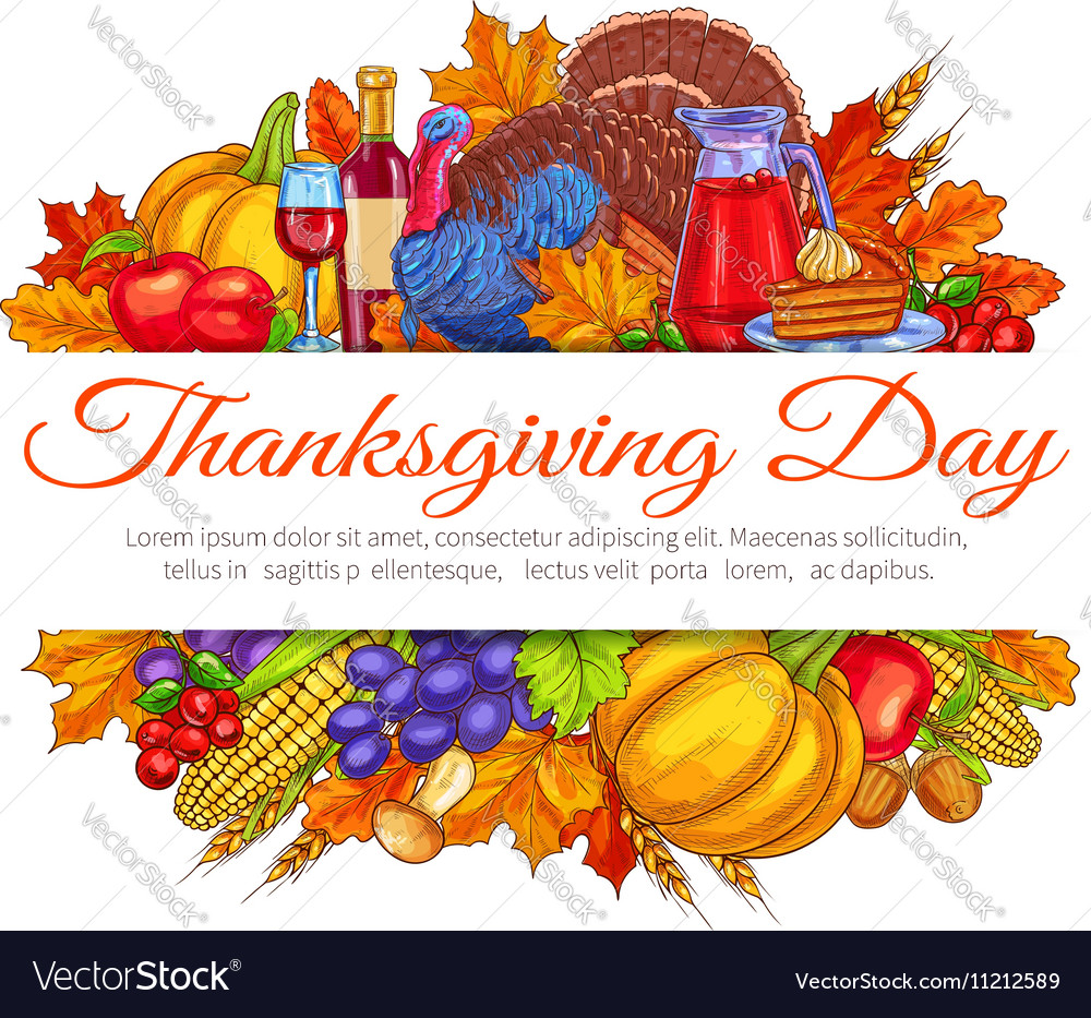 Thanksgiving day greeting card decoration