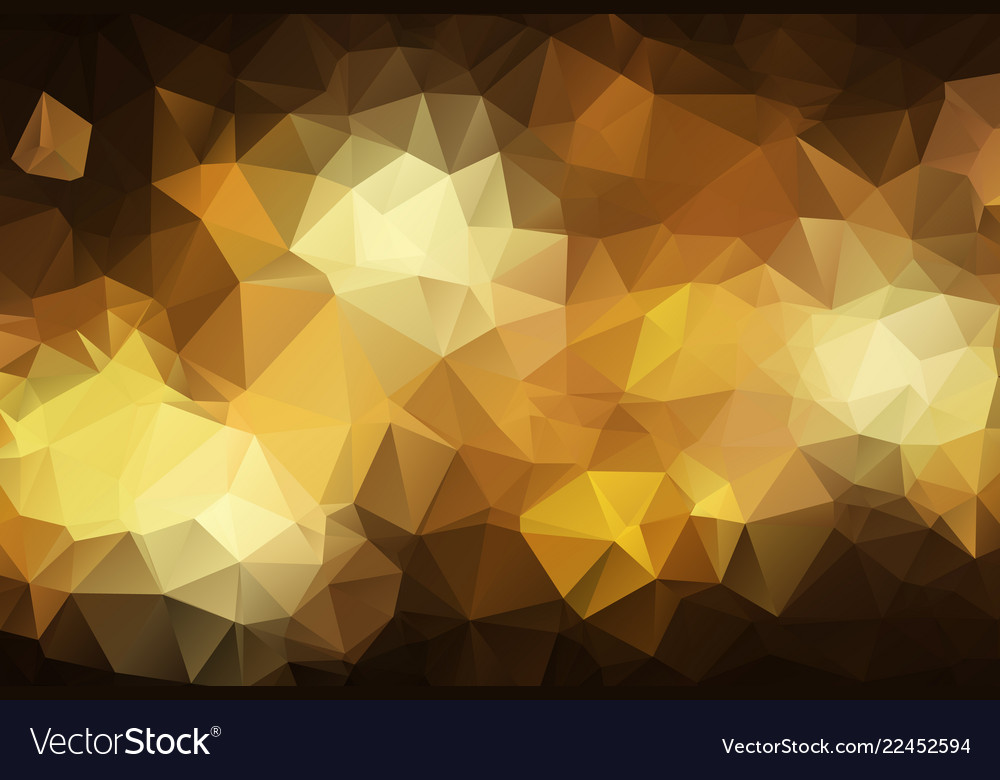 Abstract dark gold polygonal which consist of