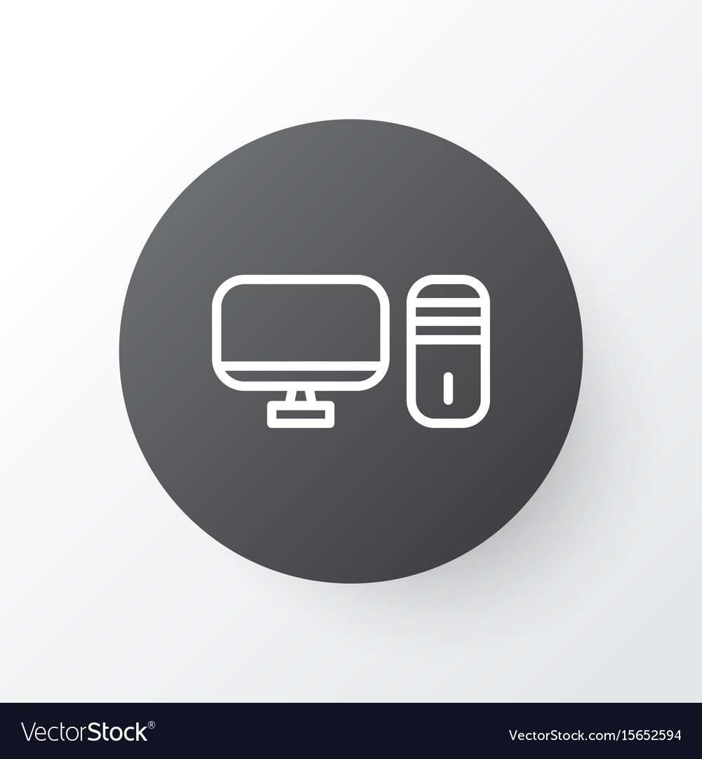 Desktop pc icon symbol premium quality isolated vector image