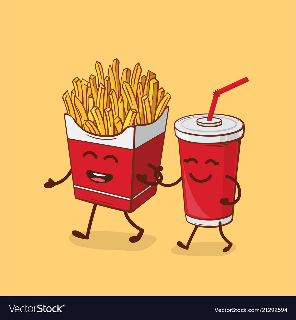Friends forever fries and cola