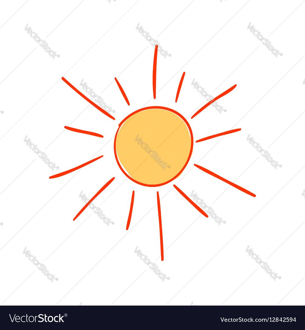 Hand-drawn sun