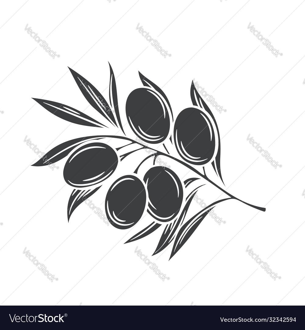 Olives glyph icon badge