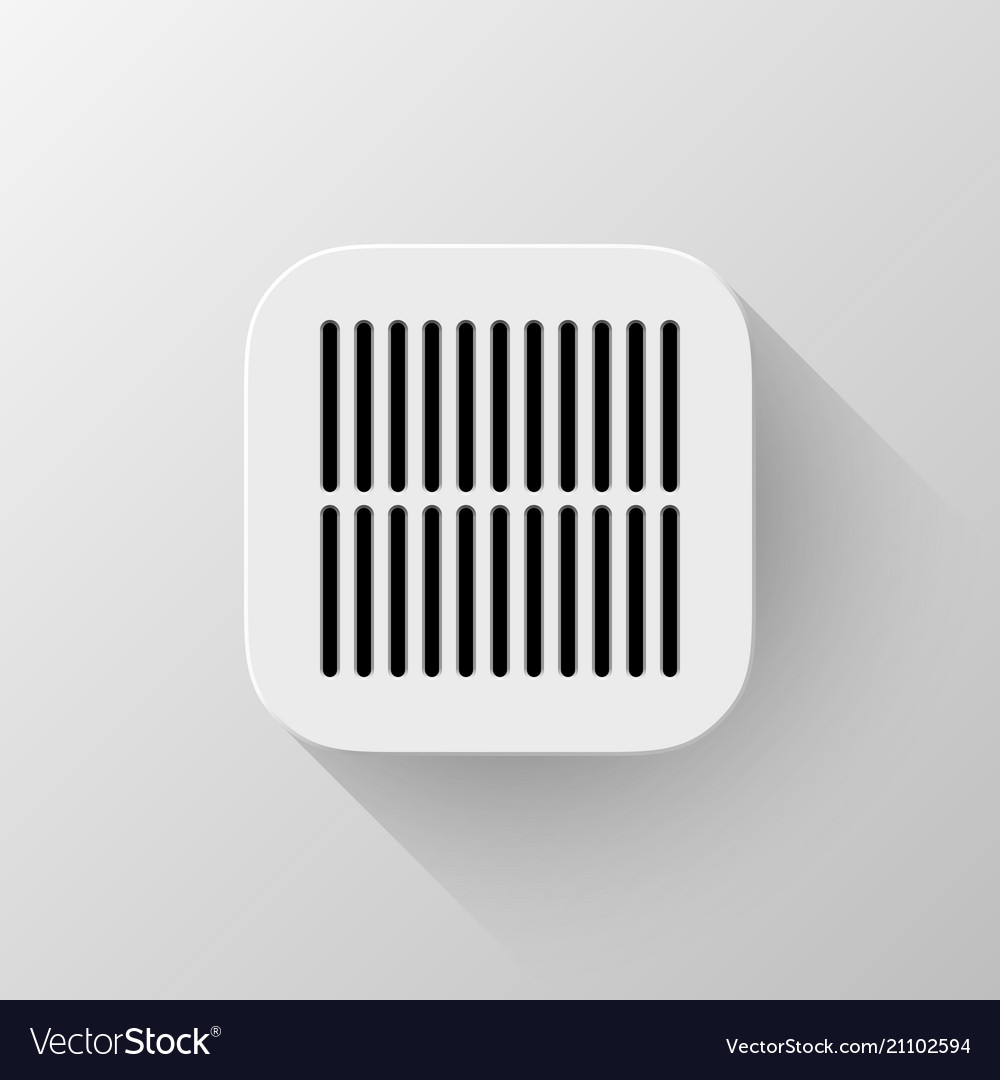White technology app icon template