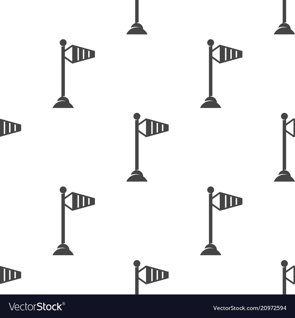 Wind speed flag on a pole seamless pattern