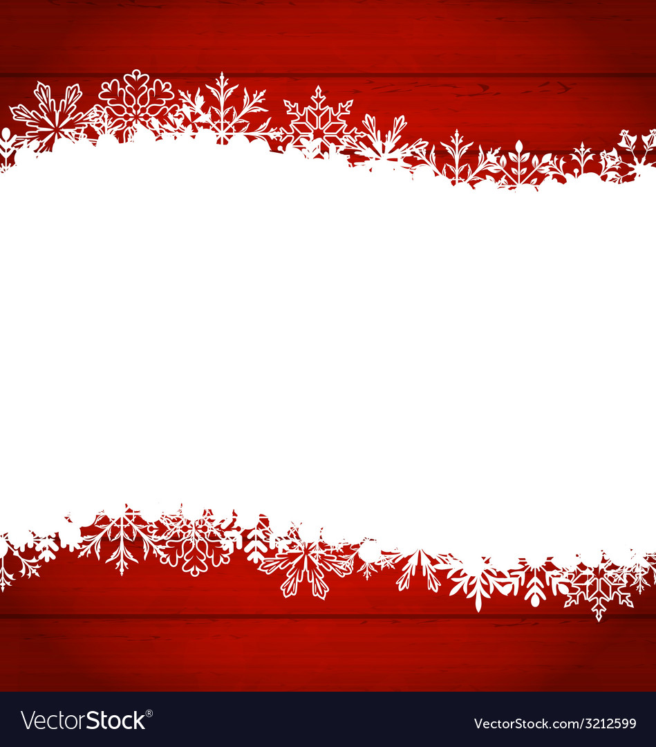 Christmas frame made of snowflakes with copy space