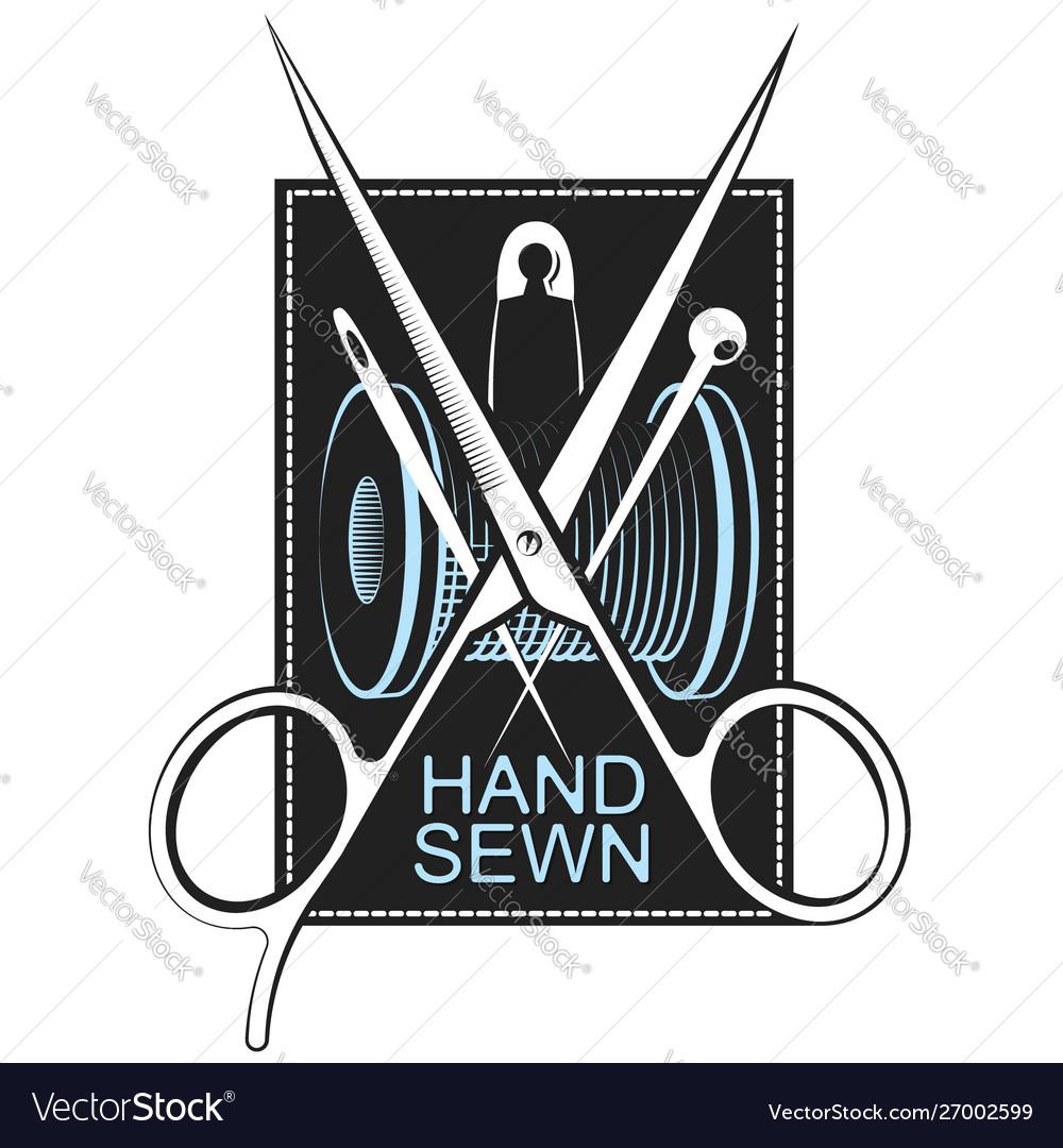 Hand sewing symbol