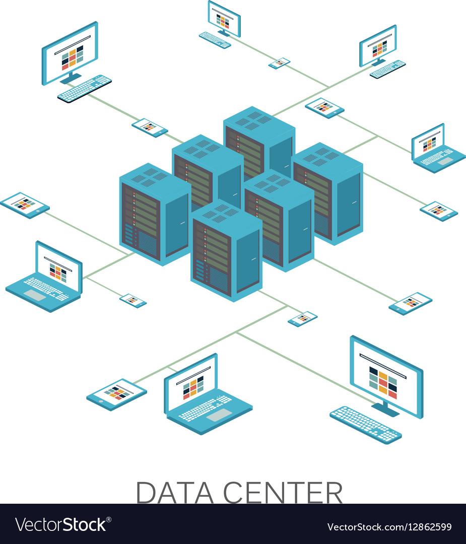 Isometric Data center icon