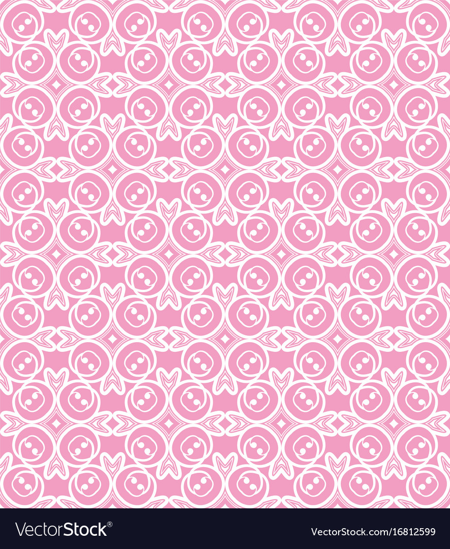 korean traditional pink flower pattern background vector image