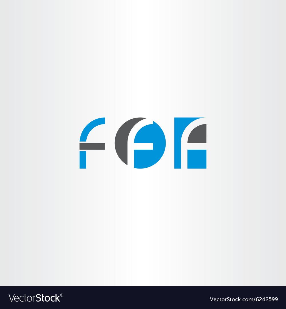 Letter f blue black logo set icon