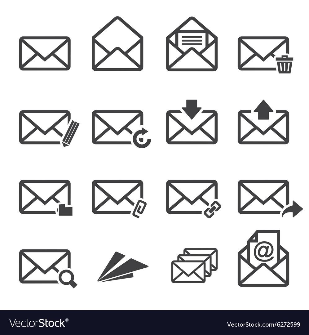Mail icon set
