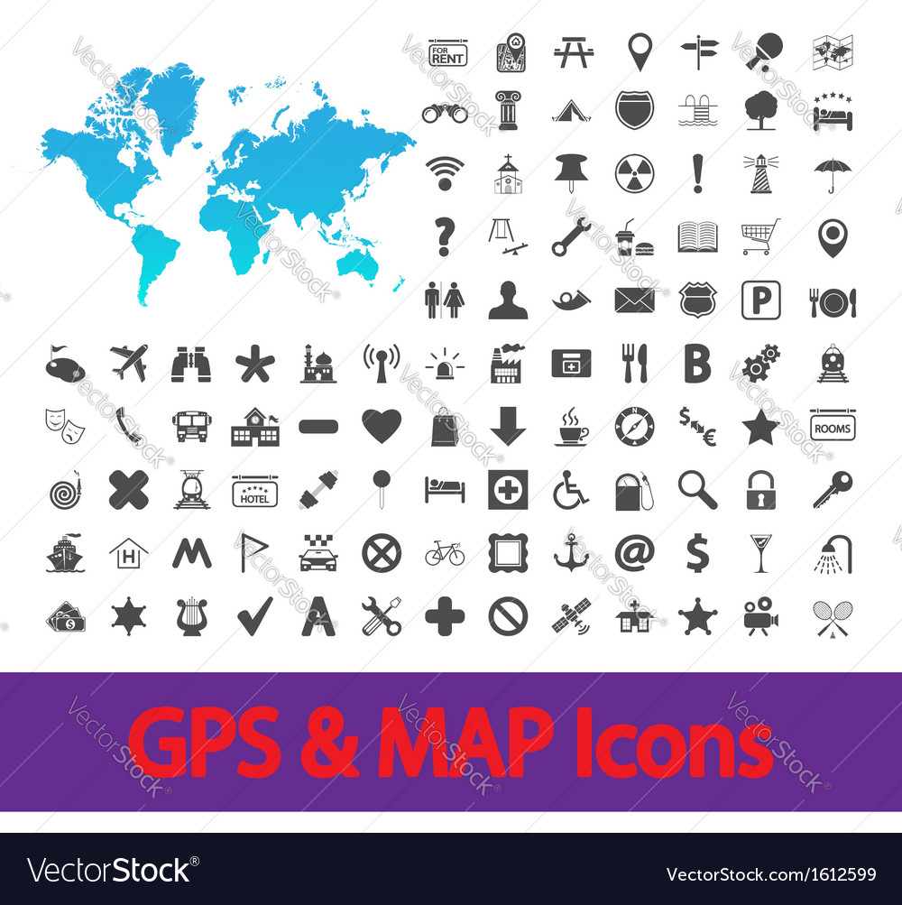 Navigation map icons