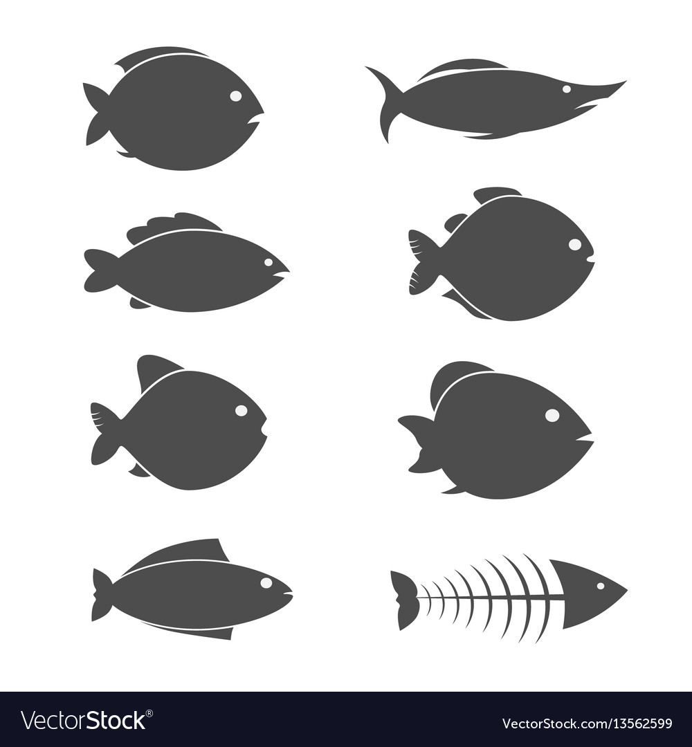 Set of fish icons