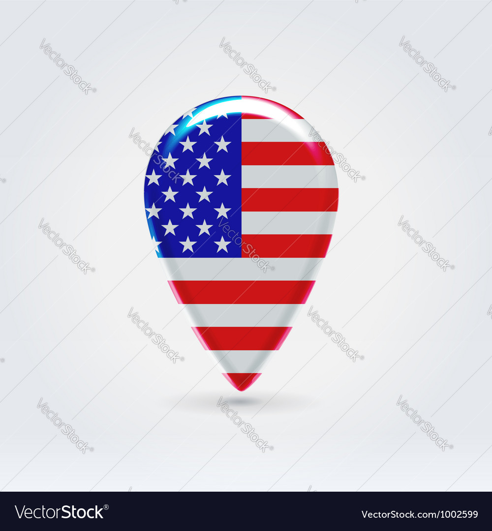 Usa Icon Point For Map Royalty Free Vector Image