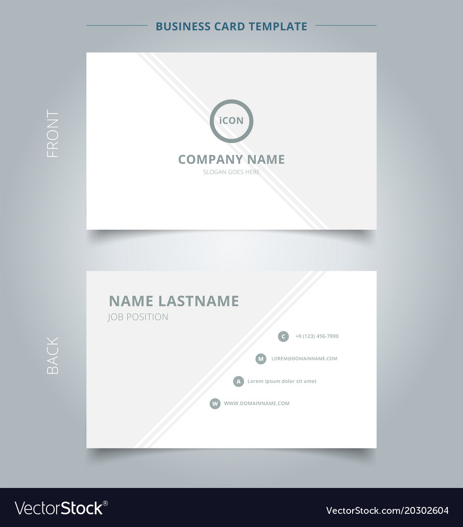 Creative business card and name card template