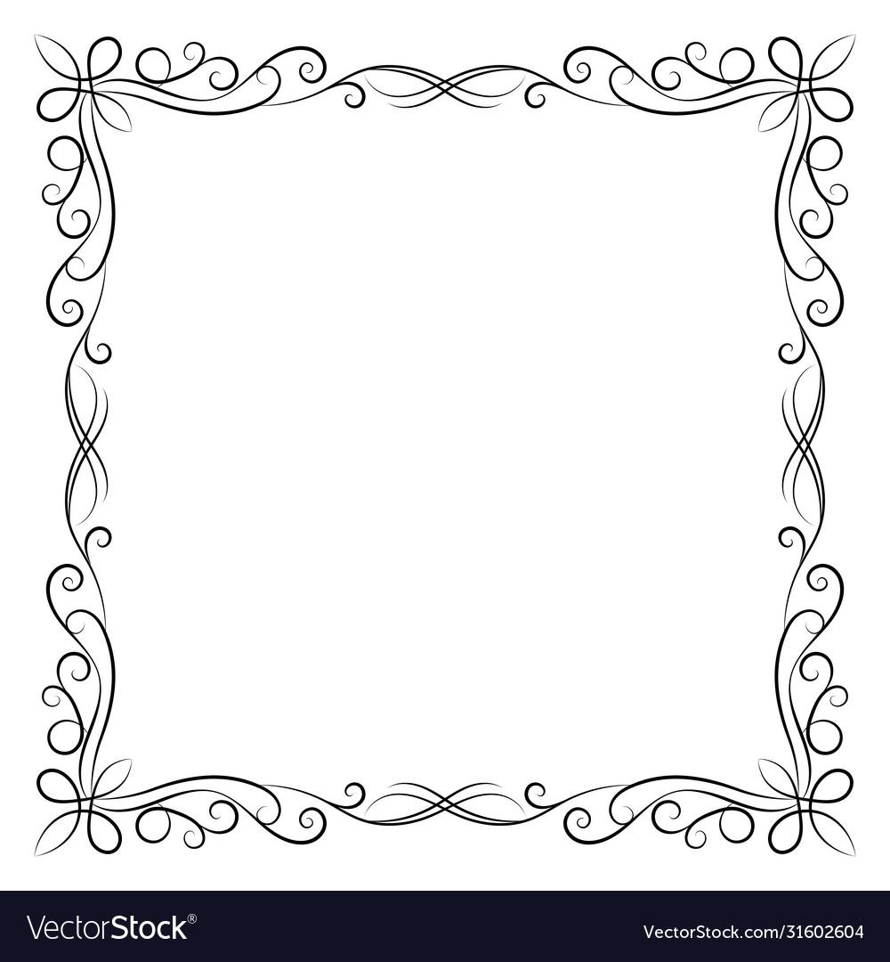Decorative vintage frame on white background